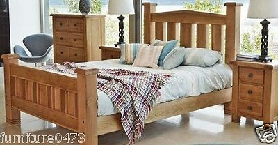 "Solid Oak Bed 4ft 6"" Double, 5ft Kingsize or 6ft Super King Available YORKSHIRE"