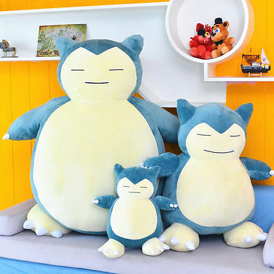 "20""/12"" New Blue Pokemon Go Snorlax Plush Soft Toy Stuffed Dolls Kids Xmas Gift"