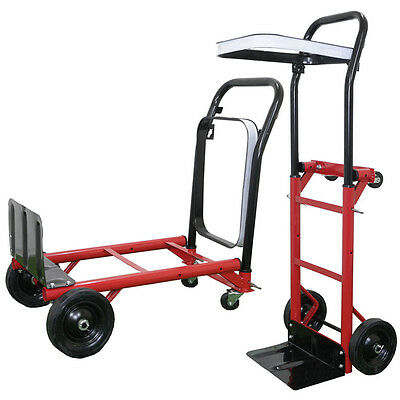 Hand Sack Truck Trolley Industrial Heavy Duty Pneumatic Tyres Folding  Large