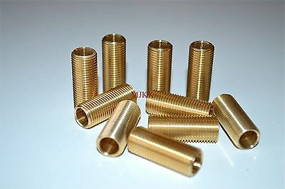 10 pieces 1 inch length of 10mm hollow threaded bar 25mm lamp fitting thread RR5