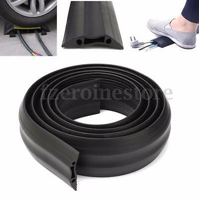 Black Heavy Duty Rubber Cable Protector Bumper Tidy Floor Trunking Cover Sleeves