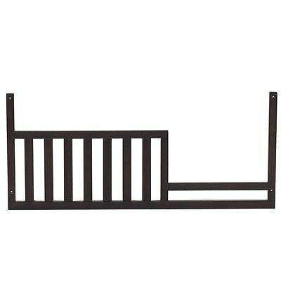 Munire Centennial Medford Toddler Guard Rail, 5475-Espresso Converts Crib to Bed