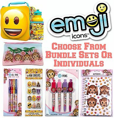 Official Emoji Pens Erasers Notebook Pencil Case Stationary School Party Bags