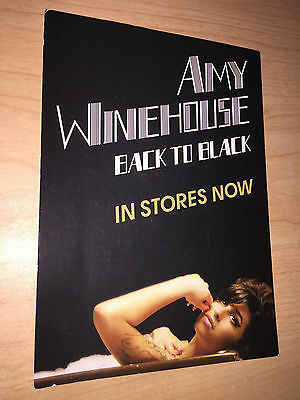 "Amy Winehouse -Back to Black[2006] 5x7 Album Promo Postcard 2-Sided""in stores"""