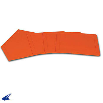 Rubber Throw Down Baseball Base Set- Orange, Set of 4