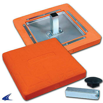 Pro Style Molded Optic Orange Baseball Safety Base- 15'' x 15'' x 3''