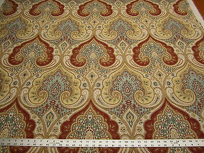 10 yards of Kravet Latika damask color circus linen print fabric r2187