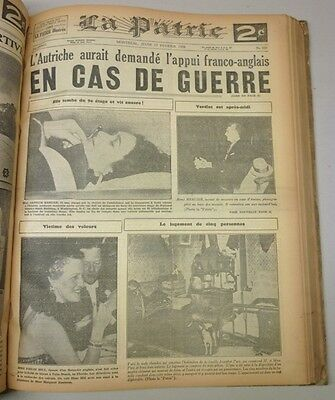 Original Historical Bounded Newspaper Montreal La Patrie January-February 1943