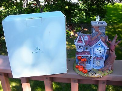 """PARTYLITE """"GHOSTLY TEA LIGHT HOUSE"""", NIB -Two Pieces - House & Ghost Turbine"""