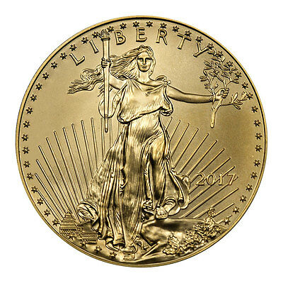 2017 $5 1/10 Troy oz. American Gold Eagle Coin SKU44733