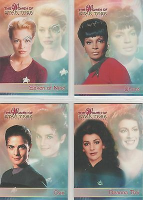Women Of Star Trek Promo Card Set P1 To P4 - Includes All Exclusives