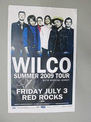 Wilco Jeff Tweedy Signed  Red Rocks Denver Concert Poster 2009 Autograph