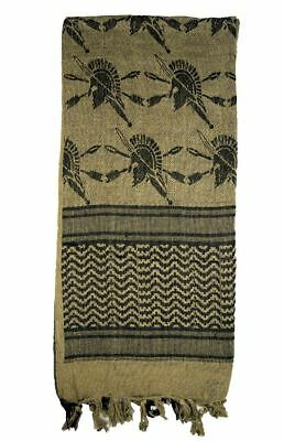 Tru-Spec 3757000 Coyote/Black Trojan Shemagh Desert Head/Neck Military Scarf