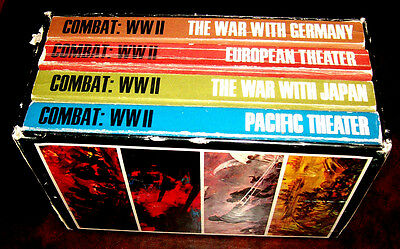 4 books in Combat: World War II series edited by Don Congdon boxed set