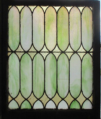 ~ Antique American Stained Glass Window 28 X 33 Architectural Salvage ~