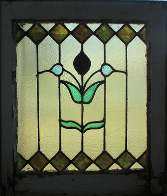 ~ Antique American Stained Glass Window 21 X 23 2 Of 2 Architectural Salvage ~