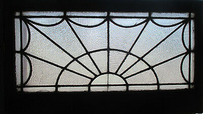 ~ Antique American Stained Glass Window 44 X 25 Architectural Salvage ~