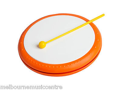 "ORANGE KIDS HAND DRUM 8"" Drum With Plastic Rim and Includes Beater *NEW!*"