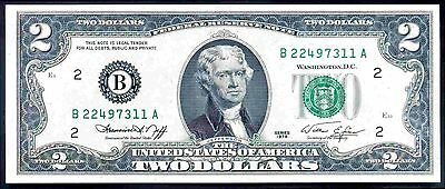 USA. FRN, Two Dollars, New York, B22497311A, series 1976, Almost Uncirculated.