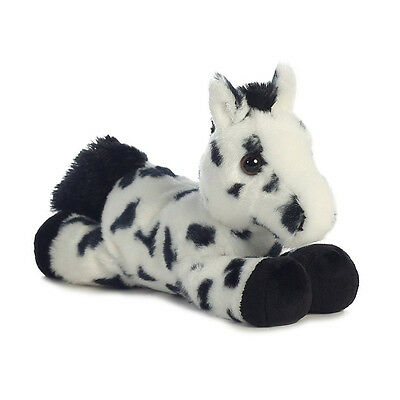 Aurora World Plush - Mini Flopsie - CHIEF the Black Appaloosa (8 inch) - New