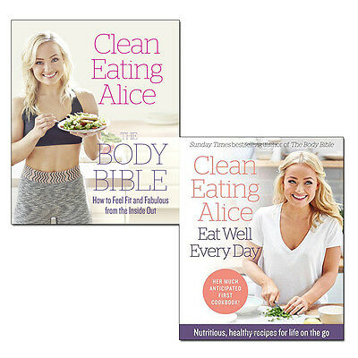 Alice Liveing Clean Eating Alice Collection 2 Books Set Eat Well Every Day NEW