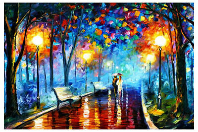 Huge Modern Abstract Art Oil Painting On canvas Wall Deco,Park Walk(No Frame)