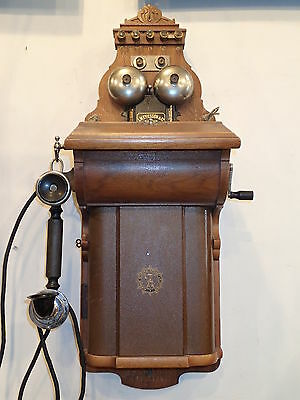 ANTIQUE early 1900 ERICSSON  WALL TELEPHONE SWEDEN VERY NICE CONDITION