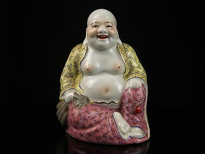 A 20th c. Chinese Porcelain Budai Figure - Polychrome Decoration.