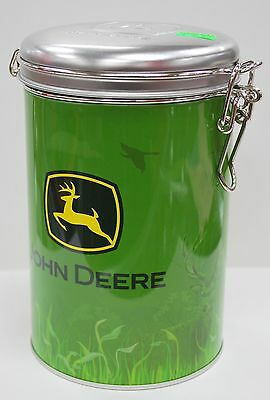 John Deere Round Lock Top Tin/Canister: Green