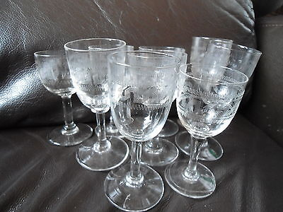 Box15 Set Of7 Victorian Simple, Small Wine / Port Glasses Assorted