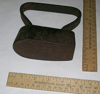 Vintage CLOTHES IRON - Textured Face or Bottom - can't read marking - As Is