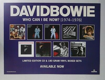 """David Bowie - Who Can I Be Now? * Promo Poster 18"""" x 24"""" * FREE SHIPPING"""