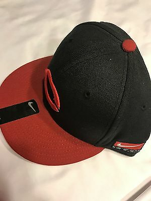 quality design 20b58 9c309 Cincinnati Reds hat Cap Nike Snapback Black and Red New with Tags MLB NWT