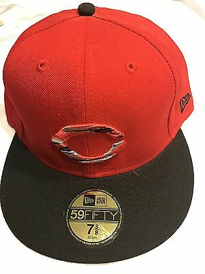 release date: 9d0af 9aa0b Team Cincinnati Reds MLB Cap size 7 1 8 New Era 59Fifty Red with black