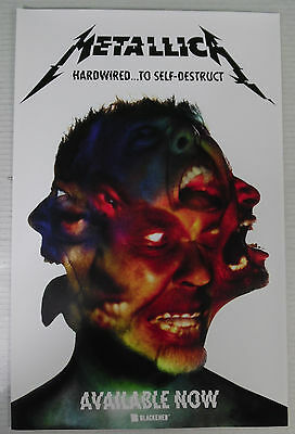 "METALLICA * HARDWIRED TO SELF DESTRUCT 11"" x 17"" Promo Poster FREE SHIPPING"