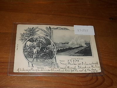 Old CEYLON  postcard our ref #55855 EARLY U/B 1904 MULTI VIEW