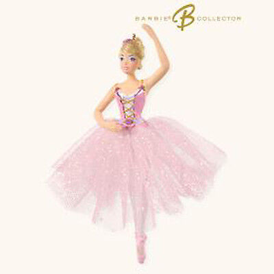 2008 Hallmark BALLET Ornament BARBIE BALLERINA in Pink *Priority Shipping*