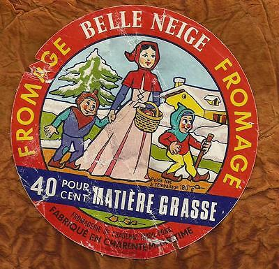 Charente Maritime  Etiquette  Fromage  Blanche Neige Sept Nains  Chadenac