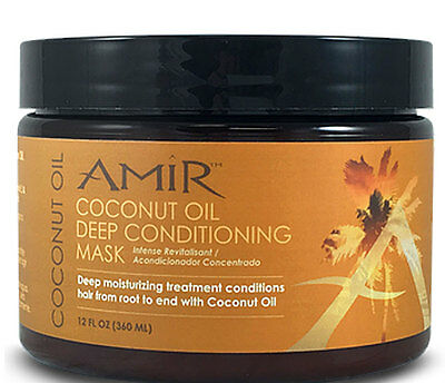 2 - Amir Coconut Oil Deep Conditioning Mask for your Hair, 12 oz. NEW