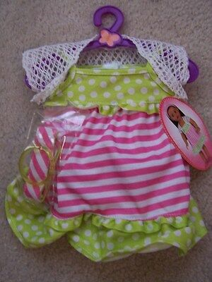 "NEW My Life 18"" Doll Clothes Summer Dress w Shrug Headband Fits American Girl"