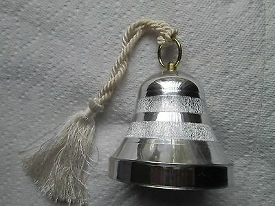 Vintage Reuge Music Bell Swiss Movement  Plays Aniversary Song  Silver Plastic