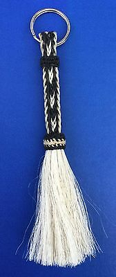 Western Equestrian Jewelry Woven Horsehair Key Ring With Tassel
