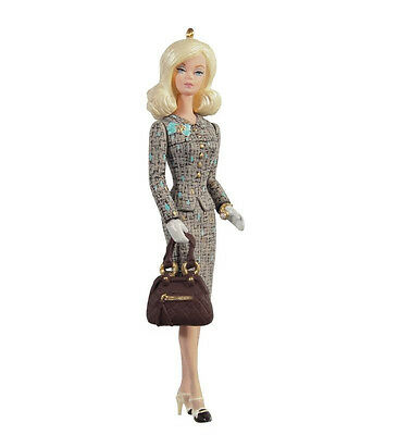 2012 Hallmark BARBIE Ornament TWEED INDEED British Fashion Suit *Priority Ship