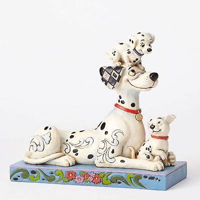 New JIM SHORE DISNEY Figurine 101 DALMATIAN PUPPY DOGS Quilted Statue Folk Art