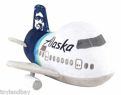 Plush Airplane Alaska Airlines New LIvery 8 inch long New in Package