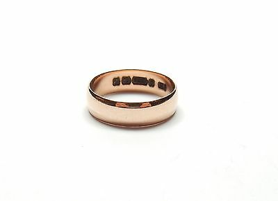 Rose Gold Wedding Ring Antique Birmingham 1864 9 carat