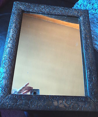 Stunning Victorian / Art Nouveau Heavy Carved Wooden Backed Mirror