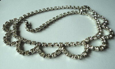 Superb Art Deco Style 1930'S/40'S Hollywood Glamour  Paste Necklace Bridal? Prom