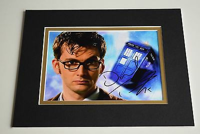 David Tennant Signed Autograph 10x8 photo display Doctor Who TV AFTAL & COA