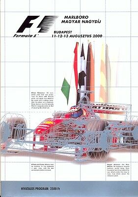 Hungarian Grand Prix Budapest 2000 F1 official programme